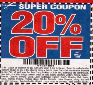Fleet Farm Coupons >> Harbor Freight 20% Off Coupon! - Struggleville