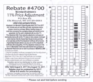 Menards 11% Price Adjustment Rebate - Purchases 7/23-8/5 ...