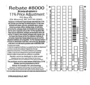 Fleet Farm Coupons >> Menards 11% Price Adjustment Rebate #8000 – Purchases 6/24 ...