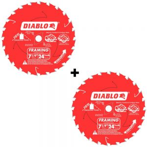Home Depot: Diablo Saw Blades (2 For 1) D0724P – Only $9 97