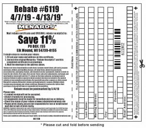 Fleet Farm Coupons >> Menards 11% Rebate #6119 – Purchases 4/7/19 – 4/13/19