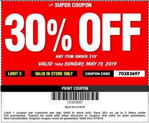 30% Off Any Item Under $10